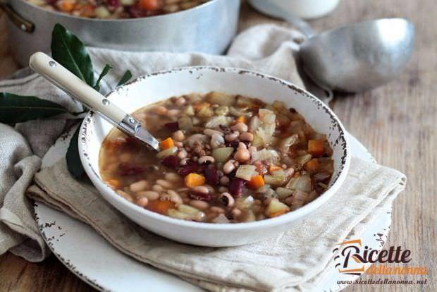 Ricetta buzzega zuppa ricca di legumi