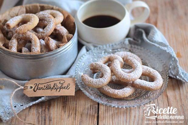 ricetta vanillekipferl, biscottini tedeschi alla vaniglia