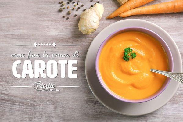 Come fare la crema di carote