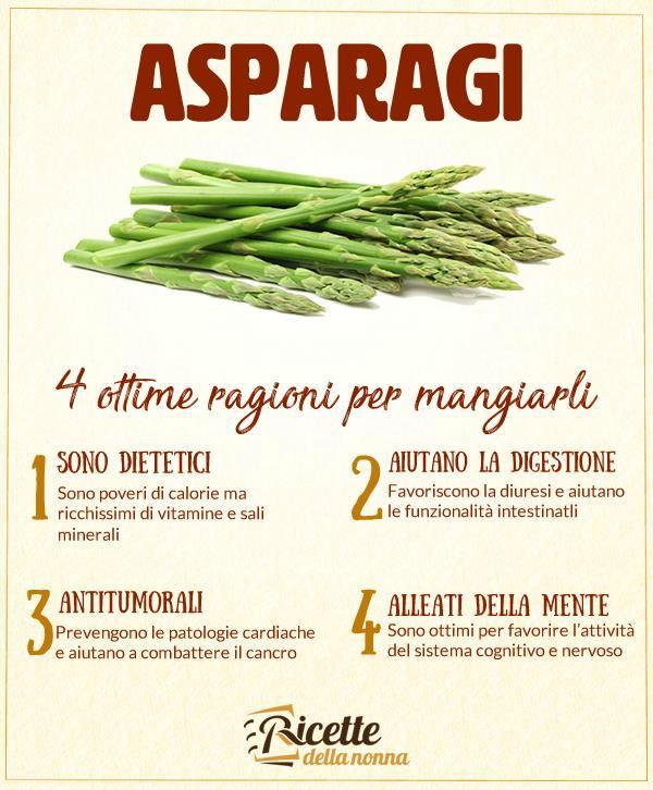 4 ragioni per mangiare gli asparagi