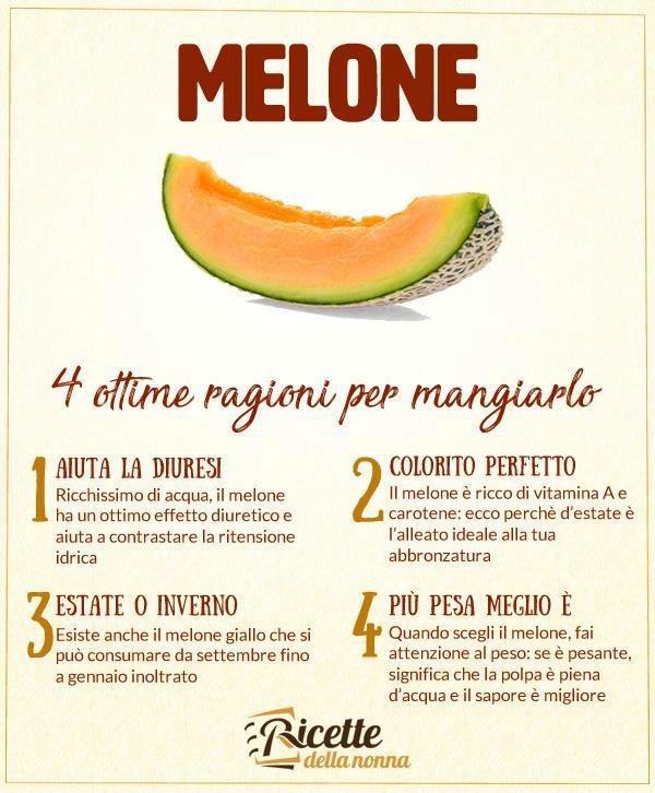 perché mangiare il melone