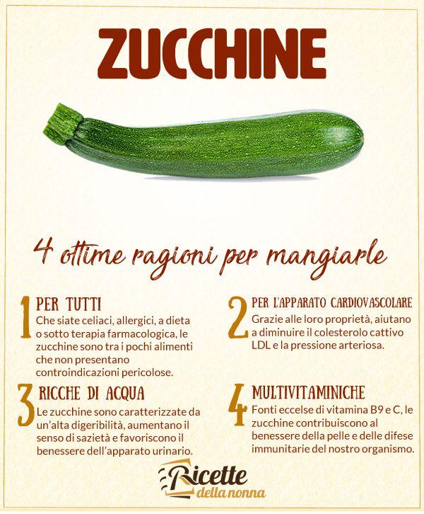 4 ragioni per mangiare le zucchine