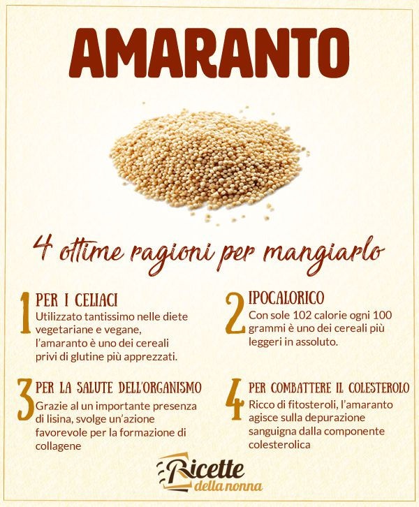 4 ragioni per mangiare l'amaranto