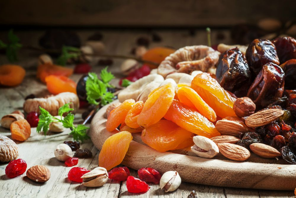 albicocche secche e frutta secca