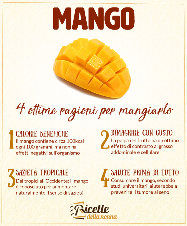 Mango proprietà e benefici