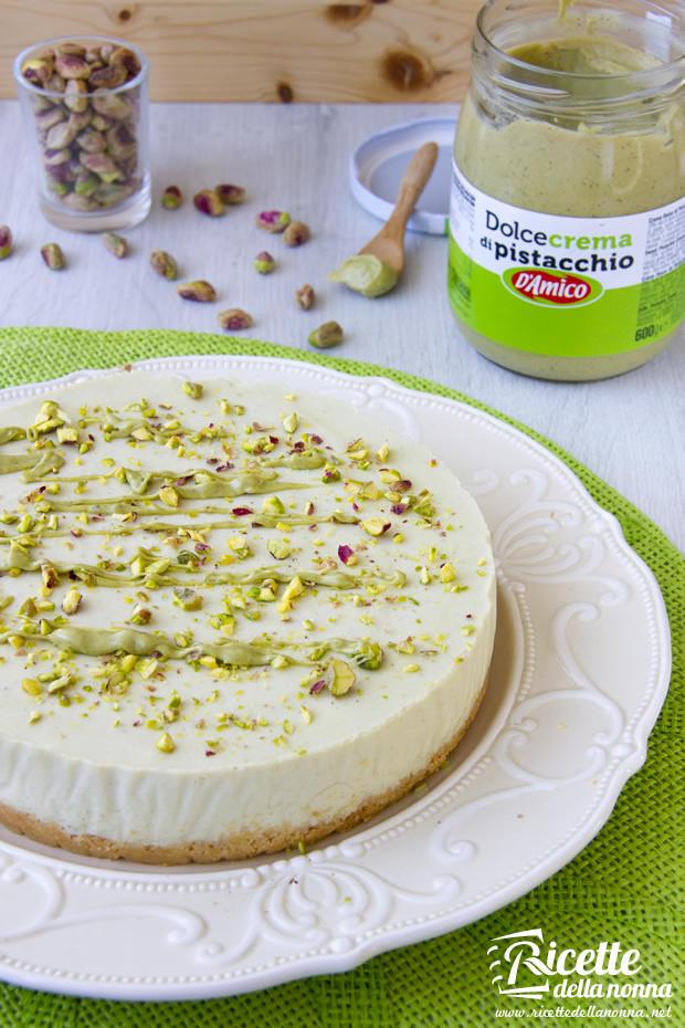 Ricetta cheesecake alla crema dolce di Pistacchio D'Amico