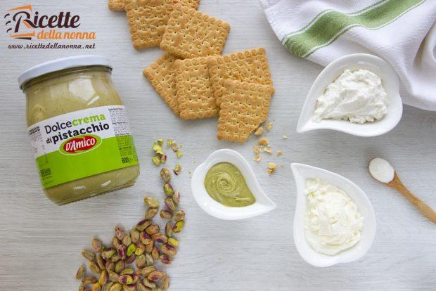 Ingredienti cheesecake alla crema di pistacchio D'Amico
