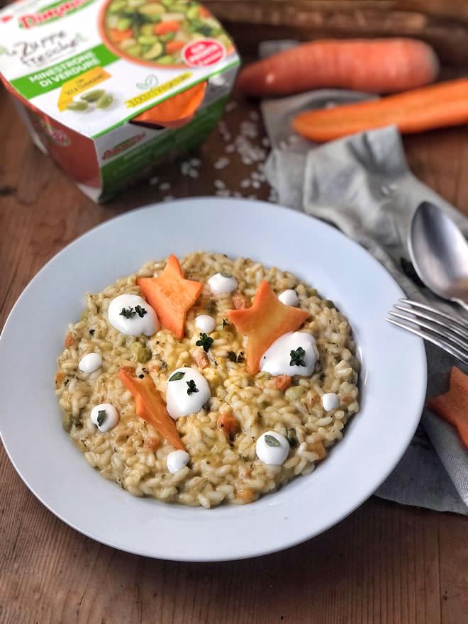 Risotto al minestrone di verdure